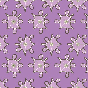 Feather N Stitch 110.101.06.3 Purple Medallions by Blend