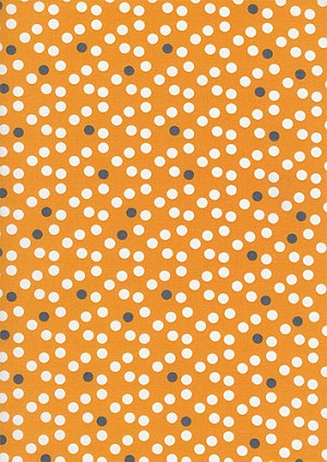 Now We're Goin Places C8361 Orange Dots by Timeless Treasures