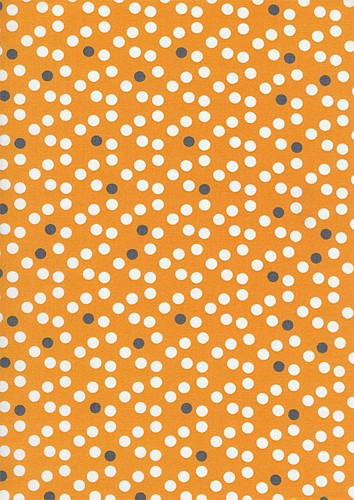 Now We're Goin Places C8361 Orange Dots by Timeless Treasures EOB