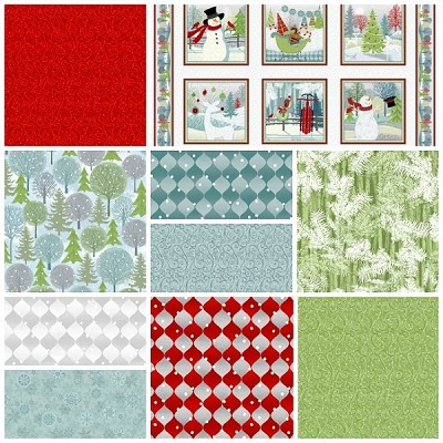 Holiday Cheer 9 Fat Quarter + Panel Set by Henry Glass