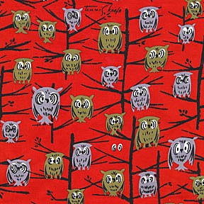 Hoot DS4714 Red by Tammis Keefe for Michael Miller