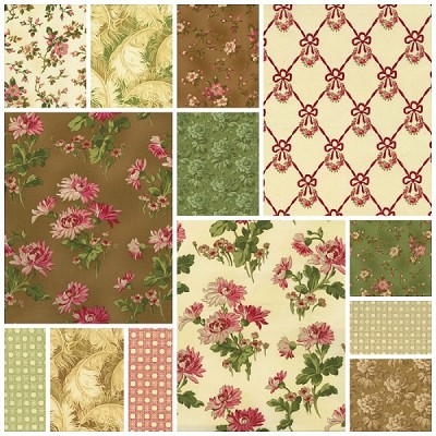 Incarnadine 13 Fat Quarter Set by Robyn Pandolph for RJR