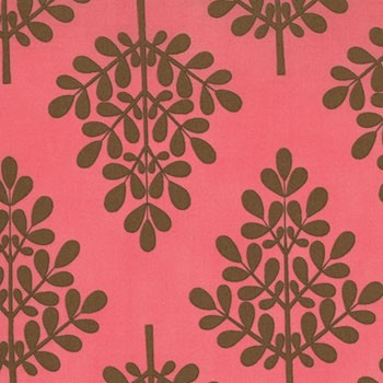 It's A Hoot Twill 32377-26T Raspberry Trees by Momo for Moda