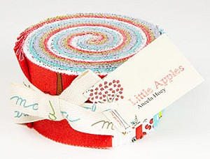 Little Apples Jelly Roll by Aneela Hoey for Moda
