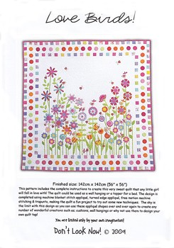 Love Birds Quilt Pattern by Don't Look Now