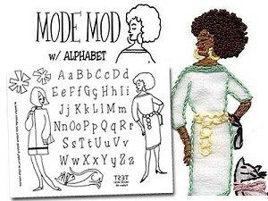 Mod Fashion with Alphabet Embroidery Pattern by Sublime Stitching