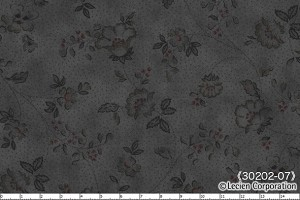 Mrs. March's Basic 30202-07 Black Tonal Floral by Lecien
