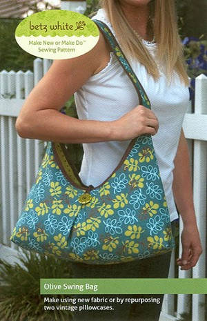 Olive Swing Bag Pattern by Betz White