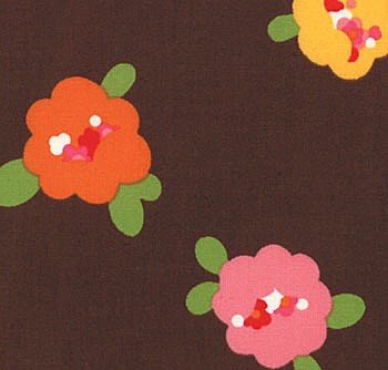 Oops A Daisy 32481-14 Brown Pods by Keiki for Moda