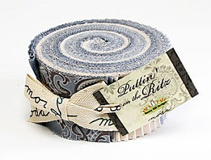 Puttin' on the Ritz Jelly Roll - Blue by Bunny Hill for Moda