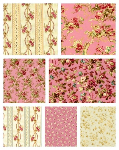 Rose Hill Lane 7 Fat Quarter Set by Robyn Pandolph for RJR