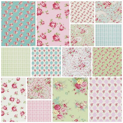 Rosey 17 Fat Quarter Set by Tanya Whelan for Free Spirit