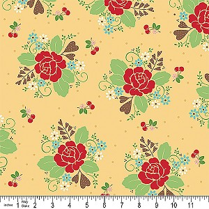 Sew Cherry C2520 Yellow Main by Bee in my Bonnet for Riley Blake