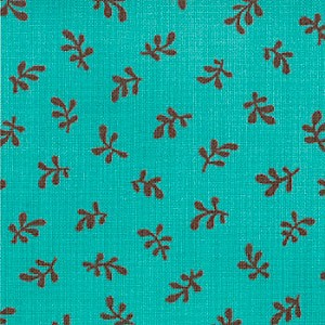 Sophie 32507-11 Blue Fiesta Leaf by Chez Moi for Moda