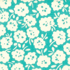 Sophie 32508-11 Blue Fiesta Simple Flower by Chez Moi for Moda EOB