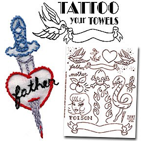 Tattoo Your Towels Embroidery Patterns by Sublime Stitching