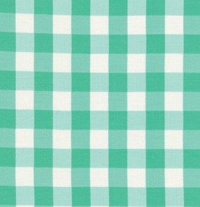 Tea Cakes VM43 Jade Checkered Napkin by Verna Mosquera