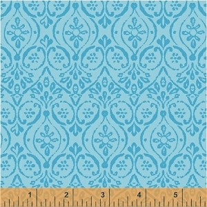 Two by Two 33576-2 Blue Damask by Windham Fabrics EOB