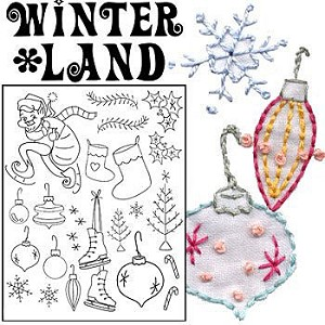 Winterland Embroidery Pattern by Sublime Stitching