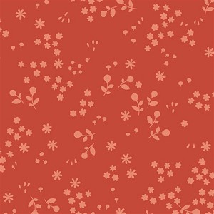 Acorn Trail Organic Adobe Tonal Floral by Teagan White for Birch