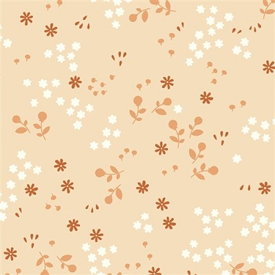 Acorn Trail Organic TW-11 Shell Tonal Floral by Teagan White for Birch