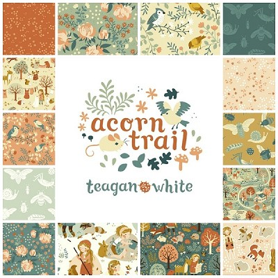 Acorn Trail Organic 13 Fat Quarter Set + Panel by Teagan White for Birch