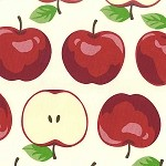 Apples 4170-71A Red by Kokka of Japan