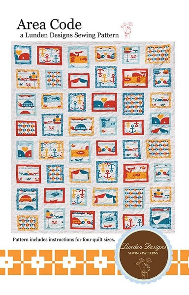 Area Code Quilt Pattern by Lunden Designs