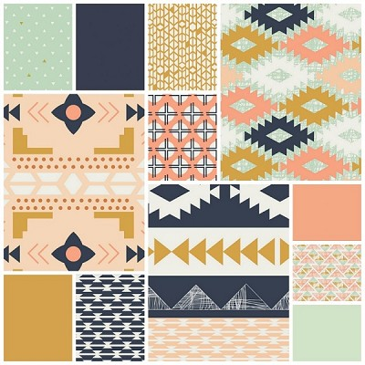 Arizona 12 Fat Quarter Set by April Rhodes for Art Gallery
