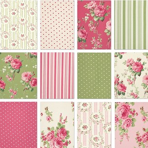 Barefoot Roses 11 Fat Quarter Set by Tanya Whelan for Free Spirit