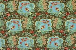 Belle AB09 Blue Gothic Rose by Amy Butler