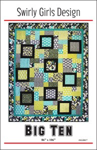 Big Ten Quilt Pattern by Swirly Girls Design