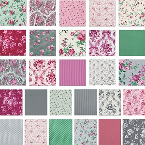 Billet-Doux 27 Fat Quarter Set by Verna Mosquera for Free Spirit