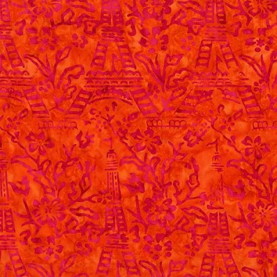 Batiks BT6078 Sorbet Eiffel Tower by Michael Miller
