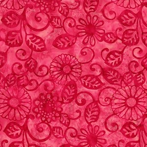 Batiks BT6081 Berry Floral Fling by Michael Miller