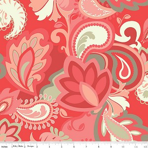Vintage Verona C3600 Coral Main by Emily Taylor for Riley Blake
