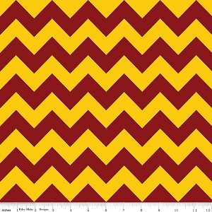 Chevron Medium C380-03 Maroon/Gold by Riley Blake