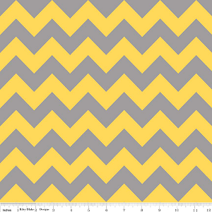 Chevron Medium C380-11 Yellow Gray by Riley Blake