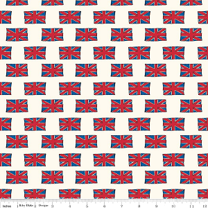 British Invasion C3844 Cream Flags by Riley Blake