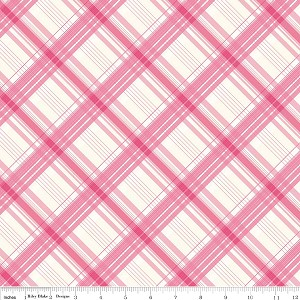British Invasion C3845 Pink Plaid by Riley Blake