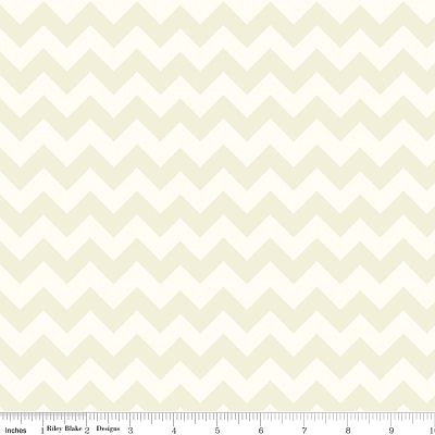 Chevron Small C400-01 Cream Tonal by Riley Blake