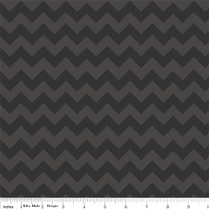 Chevron Small C400-110 Black Tonal by Riley Blake