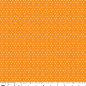 Snapshots C4075 Orange Hearts by Bella Blvd for Riley Blake