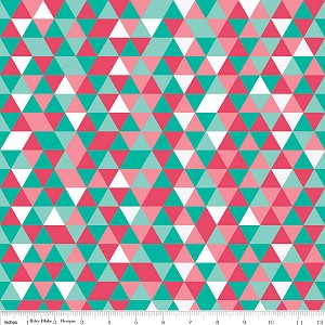 The Cottage Garden C4225 Teal Triangles by Riley Blake