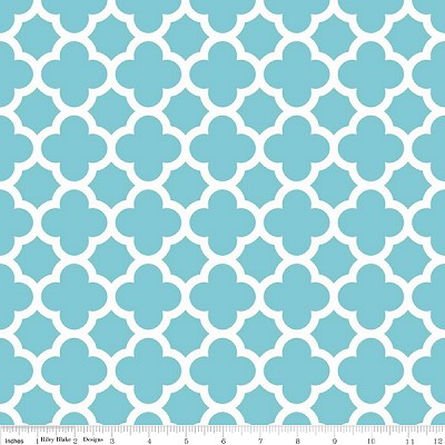 Quatrefoil C435-20 Aqua by Riley Blake