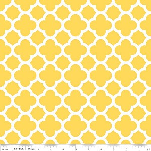 Quatrefoil C435-50 Yellow by Riley Blake