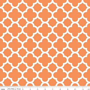 Quatrefoil C435-60 Orange by Riley Blake