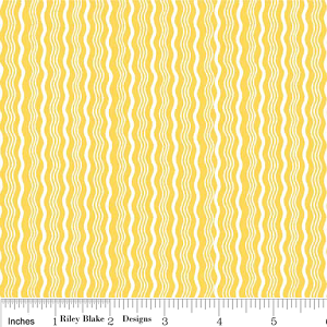 Hipster C522-06 Yellow Crimp by Riley Blake