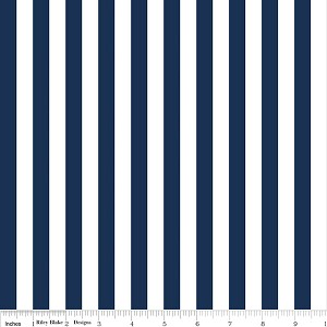 Small Stripe C530-21 Navy by Riley Blake