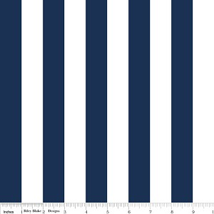 Medium Stripe C540-21 Navy by Riley Blake